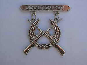 US Marine Corps Scout Sniper Rifle Badge NEW M40A1 ...