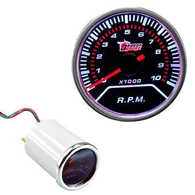 "New Car Motor 2"" 52mm Car Smoke Len Pointer Tachometers Led Gauge Universal"