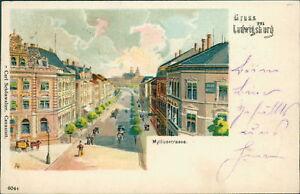 Ansichtskarte Ludwigsburg 1899 Myliusstrasse  (Nr.717)