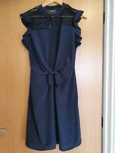 Tommy-Hilfinger-black-silk-Dress-UK-Size-8