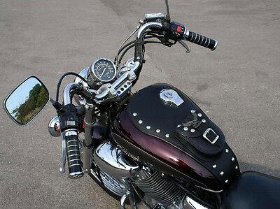 Yamaha XV535 VIRAGO MODEL Leather Tank Chap Bib Panel with Pouch