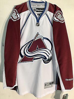 the best attitude 58ad3 a1778 Reebok Premier NHL Jersey Colorado Avalanche Team White sz S   eBay