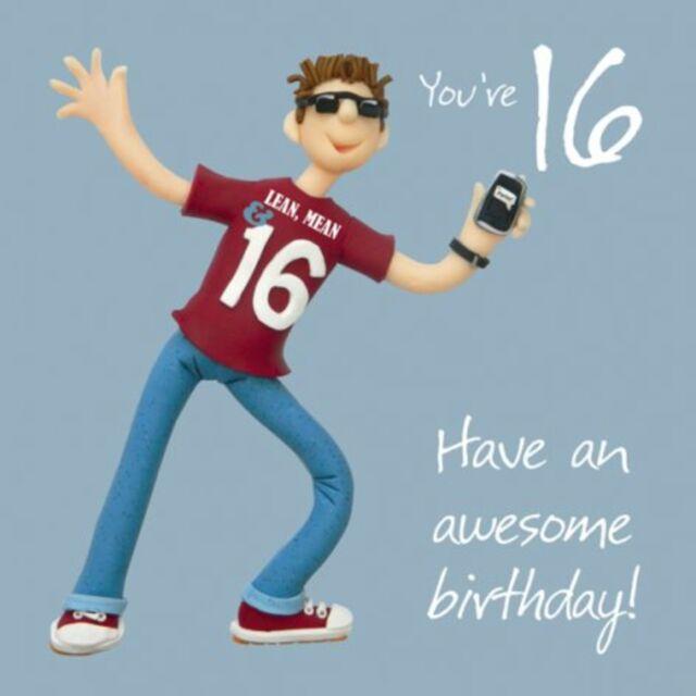 Boys 16th Birthday Greeting Card One Lump Or Two Range
