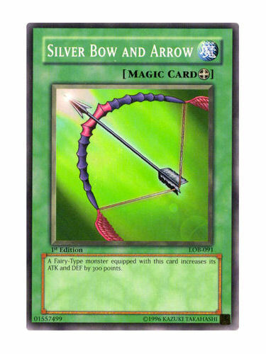 Silver Bow And Arrow Near Mint Condition YUGIOH Card Mint