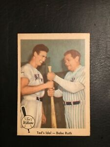 1959 Fleer Ted Williams #2 Ted's Idol Babe Ruth 1943 Red Sox Ex