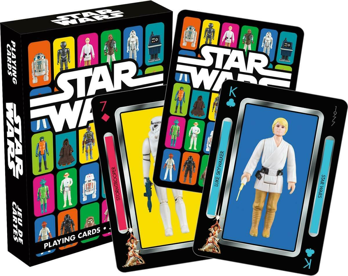 StarWars figurine : Star Wars Vintage Kenner Action Figurines Cartes à Jouer
