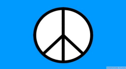 CND PEACE FLAG 5 X 3 FESTIVAL CONCERT CAMPING