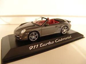 Minichamps WAP 02000218 Porsche 911 Turbo Cabriolet Grau Metallic in OVP 1:43 - Wien, Österreich - Minichamps WAP 02000218 Porsche 911 Turbo Cabriolet Grau Metallic in OVP 1:43 - Wien, Österreich