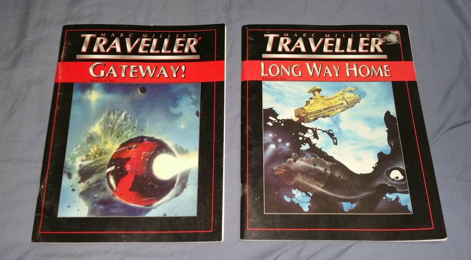 Lot of 2 Traveller RPG modules - lungo Way Home   Gateway - T4 4th edizione
