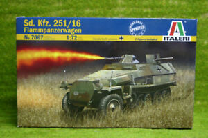 Sd-Kfz-251-16-Flammpanzerwagen-1-72-Scale-Italeri-Military-Kit-7067-D
