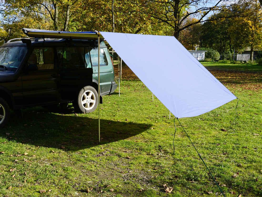 Tarp / Erweiterung zu Fahrzeugmarkise 200cm in grau von Prime Tech