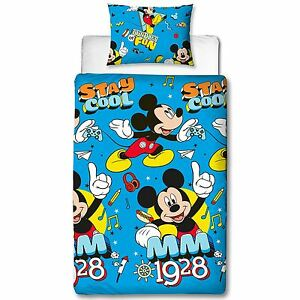 Mickey-Mouse-Cool-Set-Housse-de-Couette-Simple-Enfants-Parure-Lit-pour-Garcons