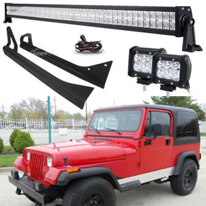 52inch 700w 18w led work light barmount bracket fit jeep wrangler image is loading 52inch 700w 18w led work light bar mount aloadofball Images
