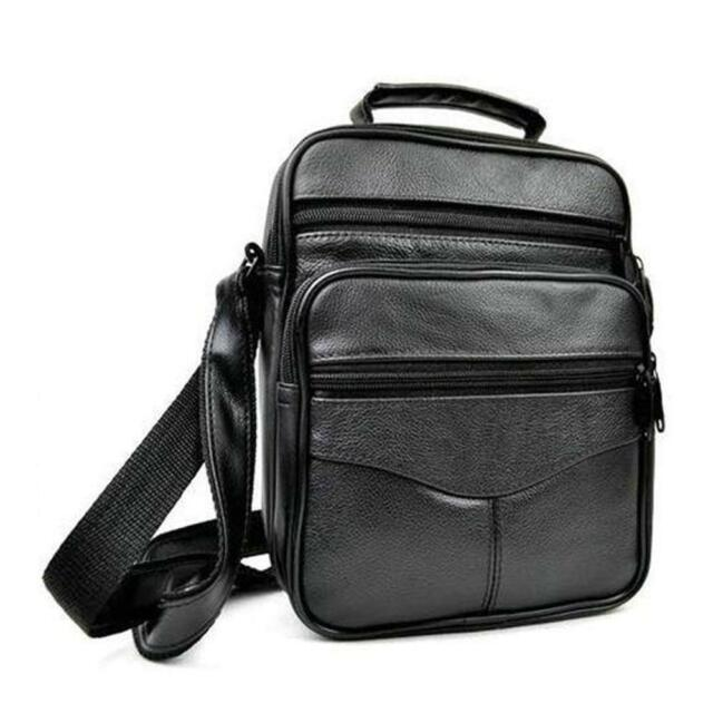 Men S Leather Crossbody Messenger Shoulder Bags Satchel Small Handbag Tablet Bag