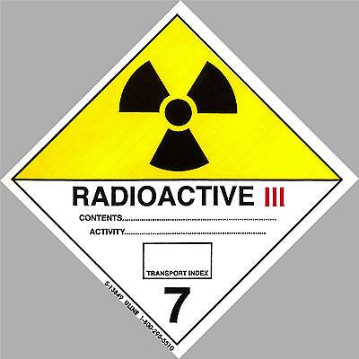 "4"" x 4"" RADIOACTIVE Decal Hazard Sticker Warning Label DOT OSHA Man Cave toxic"