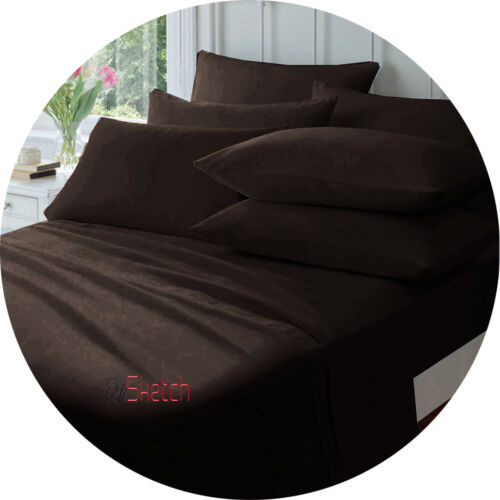 """Extra Deep Fitted Sheets 40CM 16/"""" Single Double King Super King"""