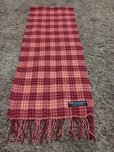 100% CASHMERE Warm Soft Wool Scarf Plaid SCOTLAND Men's Women's Unisex