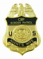 U.s. Border Patrol Agent's Wife Mini Badge Lapel Pin