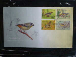AUSTRALIA-2013-BIRDS-PARDALOTES-SET-4-STAMPS-FDC-FIRST-DAY-COVER