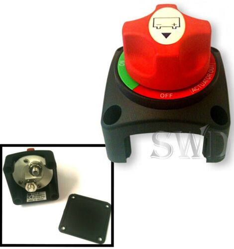 On Actuator Out Car Battery Isolator 12-50V 200A Cut Kill Switch 3 Way Off