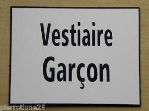 GéNéReuse Plaque Gravée Vestiaire Garcon Ft 115 X 150 Mm Signaletique Gamme ComplèTe D'Articles