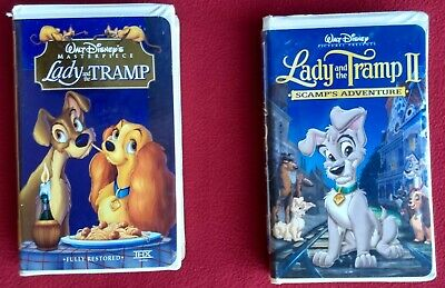 Disney S Lady And The Tramp Scamp S Adventure 2 Vhs Tapes Animated Lot Bundle Ebay