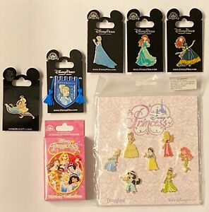 Disney-PRINCESS-Pins-Ariel-Cinderella-Jazmine-Elsa-Merida-You-Choose-FREE-SHIP