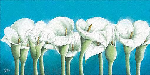 Alicia Sloan  Musée Callas II terminé-image 50x100 la fresque turquoise fleurs