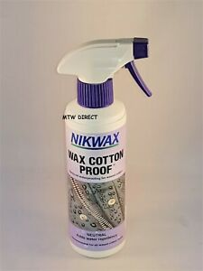 Nikwax Wax Cotton Proof Spray On Waterproofing for Waxed Clothing Wet Weather