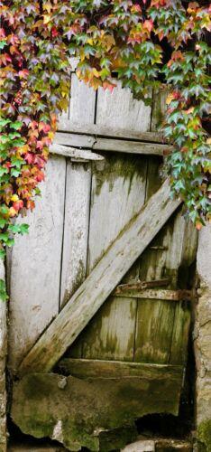 Türtapete entrance türposter Self Adhesive schäune Wood Leaves Wine Gate 949