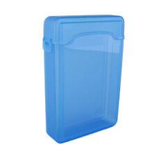 "Quality 3.5"" Plastic SATA HDD IDE Hard drive Storage Enclosure Box Case Blue EF"