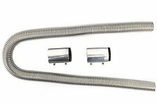"""Universal 48"""" Stainless Steel Radiator Flexible Coolant Water Hose Kit With Cap"""