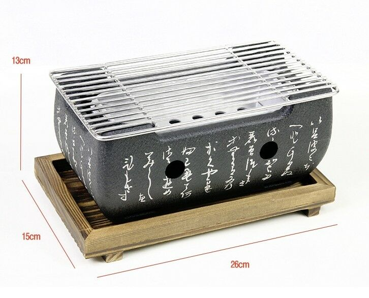Japanese Style Portable Aluminum Mini Barbecue CAMPING Grill Stove BBQ CAMPING Barbecue OUTDOOR 1ea3f7