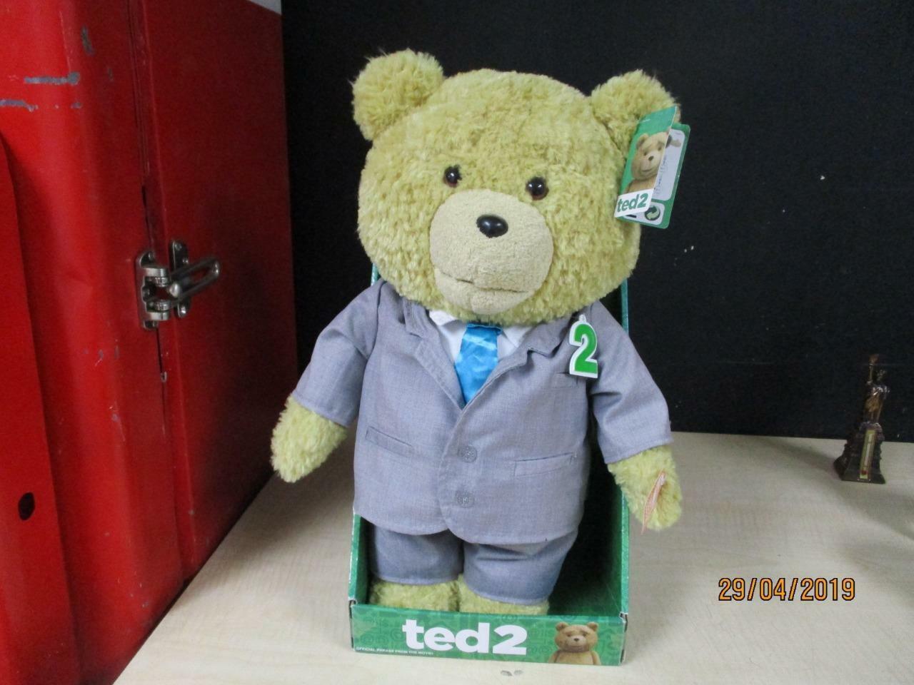 Nuevo TED 2 película 16 pulgadas hablando peluche peluche suave juguete de sonido TEDDY BEAR hablando