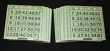 BINGO PAPER Cards 1 on's singles  500 sheets Green Solid FREE SHIPPING