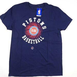 NWT Detroit Pistons T-Shirt Adult Large Short Sleeve NBA FISLL Men's Cotton NEW*