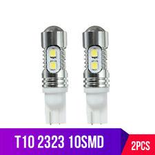 2X T10 1200 Lumens 921 10W 10SMD 2323 LED Projector Reverse Backup Light Bulbs