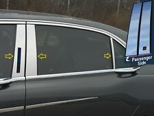6PC STAINLESS STEEL PILLAR POST TRIM KIT FITS 2017 LINCOLN CONTINENTAL