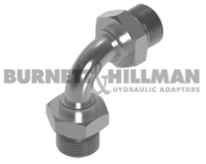 Burnett-amp-Hillman-BSP-Male-x-BSP-male-90-Swept-Elbow-Hydraulic-Adaptor-Fitting