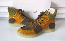 NWB Alexander McQueen MCQ PUMA JOUST SUNFLOWER HI-TOP SNEAKER SHOES Sz-US 9 $395