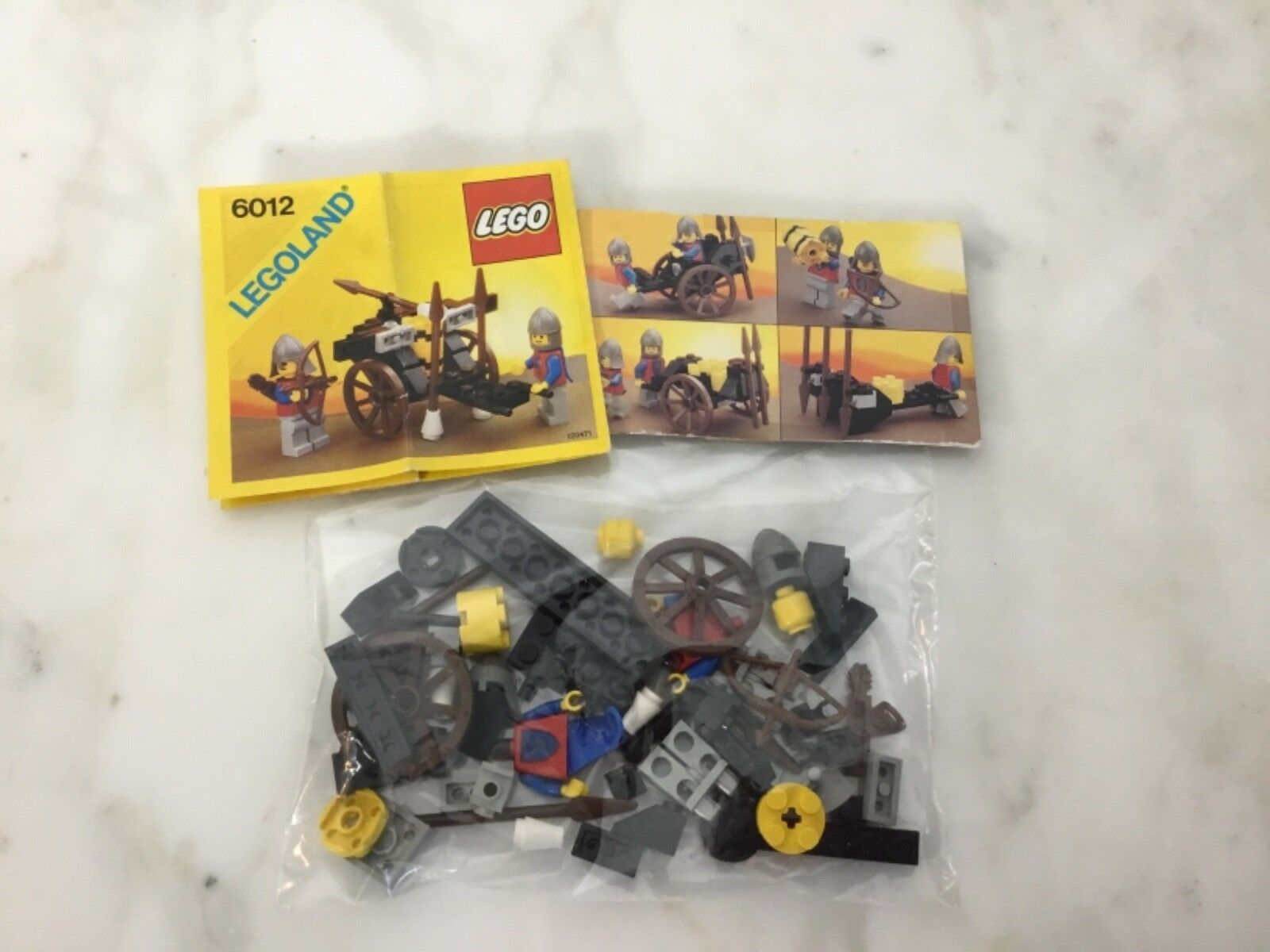Rare Lego Castle System Siege Cart Lion Knights Instructions Box