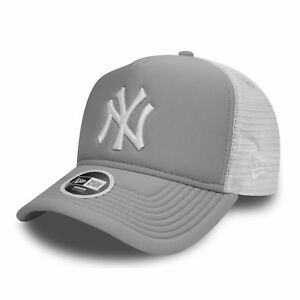 New Era Womens Essential Trucker A-Frame New York Yankees Cap Grey ... fe4e375f42
