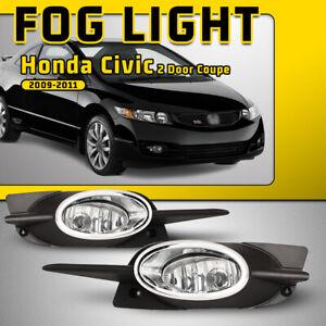 New Driver Side Fog Lamp Assembly Fits 2009 Honda Civic Coupe Models HO2592123