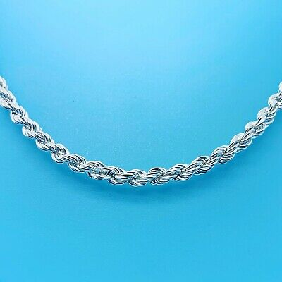 Genuine Hallmarked 925 Sterling Silver Traditional Curb Chain in Diff Lengths