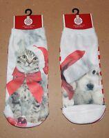 Christmas Socks Ladies Size Shopko 4 To10 2pr Cat And Dog 29u