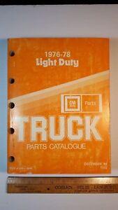 1976-78-GMC-Original-Light-Duty-Truck-Parts-Catalog-Very-Good-Condition-CDN