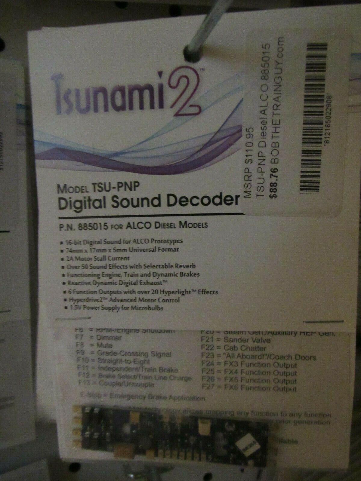 Soundtraxx Tsunami 2 Tsu-PNP Alco motores Diesel  885015 Bob el tren tipo
