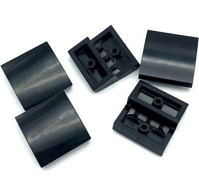 Lego 5 New Black Sloped Pieces Curved 2 x 2 No Studs