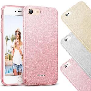 Handy-Glitzer-Huelle-fuer-Apple-iPhone-Slim-TPU-Cover-Case-Silikon-Schutz-Tasche