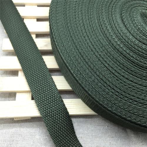 Largeur Vert Kaki Sangle Nylon Sangle De Cerclage Neuf 10 Yd environ 9.14 m environ 2.54 cm longueur 1 in 25 mm